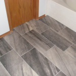 Large Format Tile On Bathroom Floor