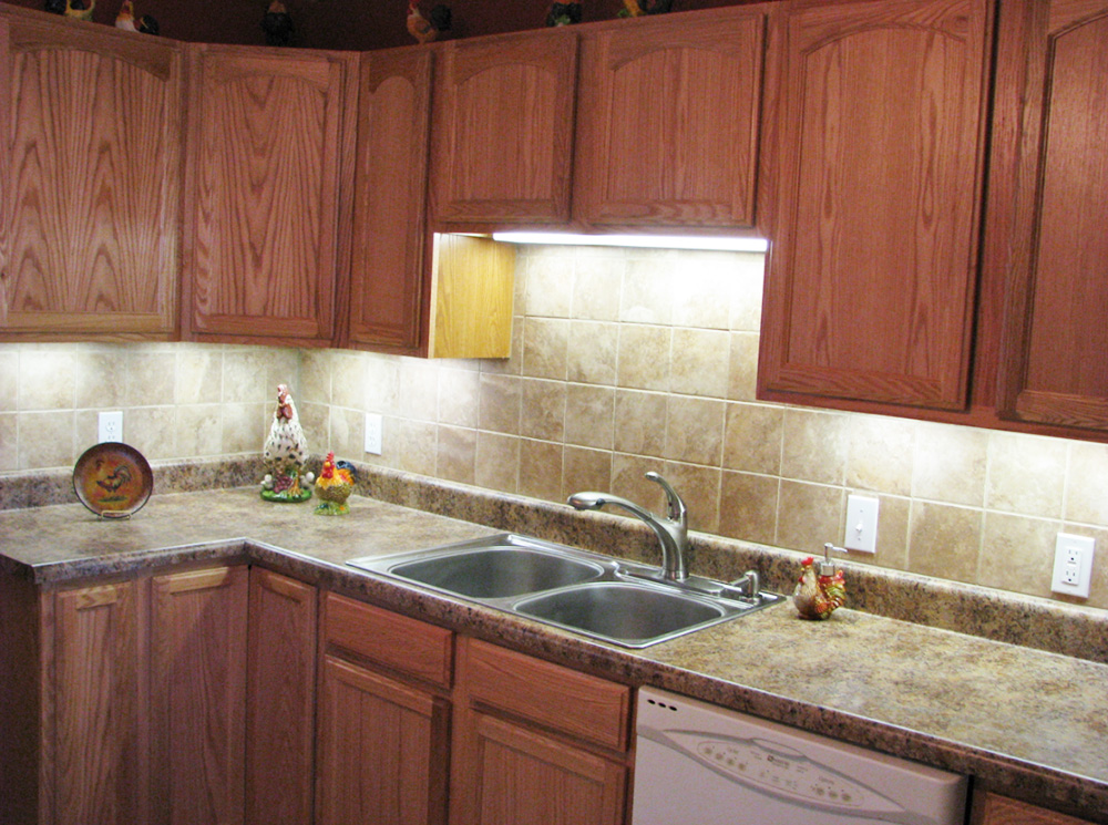 Rumsey Kitchen Remodel With Tile Backsplash U0026 Laminate Counter Tops